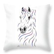 Arabian Horse Style Throw Pillow