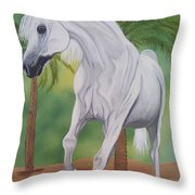 Arabian King Throw Pillow