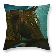 Arabian Moon Throw Pillow