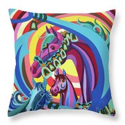 Arabian Sons Throw Pillow