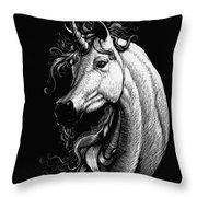 Arabian Unicorn Throw Pillow