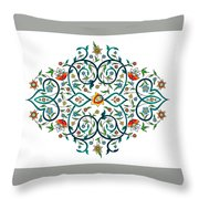Arabic Floral Ornament Throw Pillow