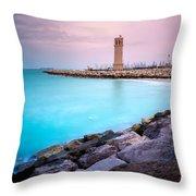 Arabic Harbour Throw Pillow