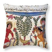 Arabic Physician Throw Pillow