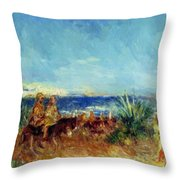 Arabs By The Sea Throw Pillow