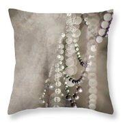 Arachne's Beads Throw Pillow