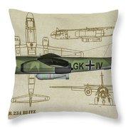 Arado Ar234b-2 - Profile Art Throw Pillow