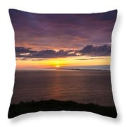 Aran Islands At Sunset Throw Pillow
