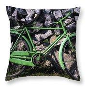 Aran Islands, Co Galway, Ireland Bicycle Throw Pillow
