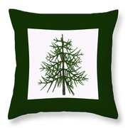 Araucaria Sp Tree Throw Pillow