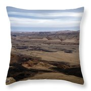 Arava Valley, South Israel, Evening Twilight Throw Pillow