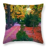 Arboles Azules Throw Pillow