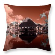 Arbor In The Pool Throw Pillow
