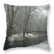 Arbuckle Bridge Throw Pillow