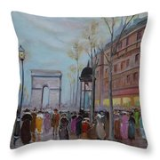 Arc De Triompfe - Lmj Throw Pillow