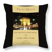 Arc De Triomphe By Bus Tour Cover Art Throw Pillow