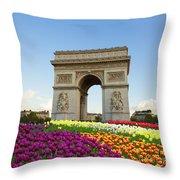 Arc De Triomphe In Paris Throw Pillow