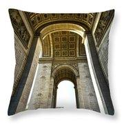 Arc De Triomphe Paris Throw Pillow