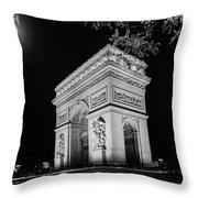 Arc De Triomphe Paris, France  Throw Pillow