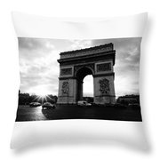 Arc De Triomphe Sunset Paris, France Throw Pillow