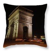 Arc Du Triomphe Paris Throw Pillow