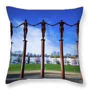 Arc Of Angels Portishead Throw Pillow
