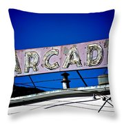 Arcade Vintage Sign Throw Pillow