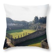 Arcaded Court Of The Gladiators Pompeii Throw Pillow