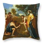 Arcadian Shepherds Throw Pillow