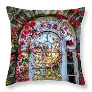 Arch And Red Vines Throw Pillow