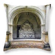 Arch At Fontevraud Abbey  Throw Pillow