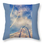 Arch Flight Throw Pillow by Susan Rissi Tregoning