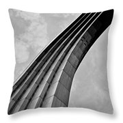 Arch In Black And White Throw Pillow