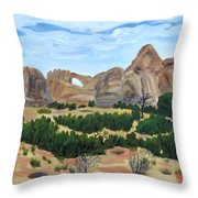 Arch In Landscape Throw Pillow