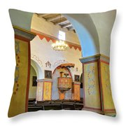 Arch In San Juan Bautista Mission Throw Pillow