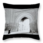 Arch In The Casbah Throw Pillow