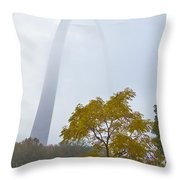 Arch In The Fog Throw Pillow