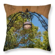 Arch Of The Past Throw Pillow