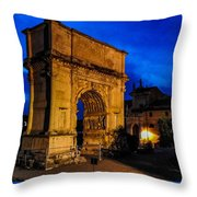 Arch Of Titus In Rome Throw Pillow