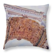 Arch Of Titus One Throw Pillow by Jenny Armitage