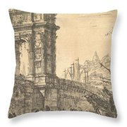 Arch Of Trajan In Ancona  Throw Pillow