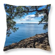 Arch Of Trees Throw Pillow