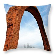 Arch Over Trees Throw Pillow