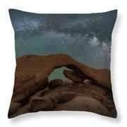 Arch Rock Milky Way  Throw Pillow