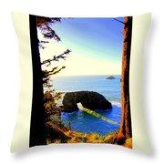 Arch Rock Reflection Throw Pillow
