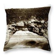 Arch Rock, Santa Cruz, California Circa 1900 Throw Pillow