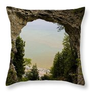 Arch Rock Throw Pillow
