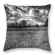 Arch Swing Set In The Park 76 In Black And White Throw Pillow