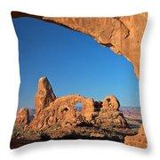 Arch Though An Arch Throw Pillow