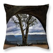 Arch Tree Throw Pillow